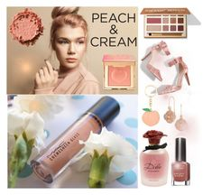 She's a Peach: Peach Lipstick by amisha73 on Polyvore featuring uroda, NYX, Dolce&Gabbana, Max Factor, Tacori, Topshop and peachlipstick