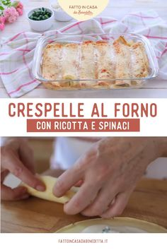Crepes, Cooking Recipes, Healthy Recipes, Confectionery, Food Videos, Italian Recipes, Buffet, Easy Meals, Food And Drink
