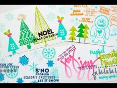 ▶ A Closer Look at the New Clearly Kelly Holiday Stamps (Part One) - YouTube