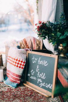 Cozy Country Valentine's Wedding Inspiration - http://www.stylemepretty.com/2015/02/12/cozy-country-valentines-wedding-inspiration/