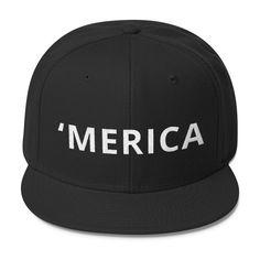 'MERICA - Wool Blend Snapback Cap