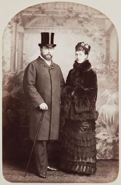 King Edward VII and Queen Alexandra, when Prince and Princess of Wales by Alphonse J Liébert (1817-1914)