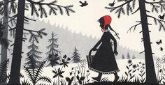 'Caperucita Roja'. Ilustración de Divica Landrová, 1959.