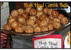 Harry Potter Hogs Head Cornish Ball Recipe (Sweet and Sour Meatballs)  Ingredients : Frozen Meatballs beef or turkey 16 oz can pineapple chu...
