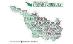 Ein Poster mit bremischen Wörtern und der hochdeutschen Übersetzung; Quelle: Marc-Oliver Schuster/Lektora.