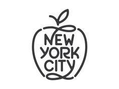 New York City logo design Web Design, Design Logo, Lettering Design, Branding Design, Apple Logo Design, Design Ideas, Typography Letters, Typography Logo, Logo Branding