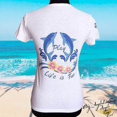 Summer vibes and dolphin spirit, life is fun, good vibes only, graphic tees, tshirt design woman, PINGIFT for FREE SHIPPING !
