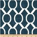 Premier Prints Zippy Slub Premier Navy - Discount Designer Fabric - Fabric.com but in black and white for dining chairs