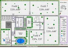 Image result for FIVE ACRE HORSE FARM LAYOUT