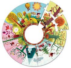 Djeco - Giant Puzzle Circle Seasons