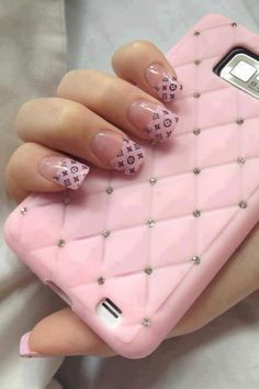 Amazing Pink Nail Art Designs For Valentine's Day - Fashonails Colorful Nail Designs, Cute Nail Designs, Acrylic Nail Designs, Acrylic Nails, Awesome Designs, Love Nails, How To Do Nails, Pretty Nails, Chic Nails