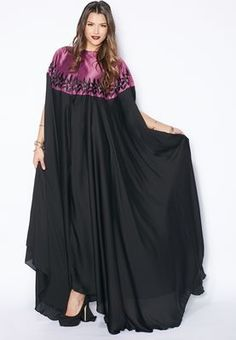 Shop Hayas closet multicolor Embroidered Cape Abaya for Women in Saudi