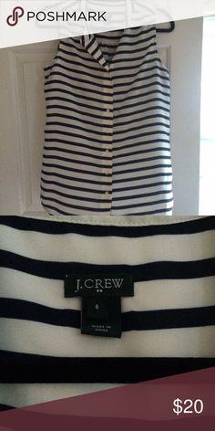 Jcrew Factory Sleeveless Button Up Silky J.Crew Factory Tops