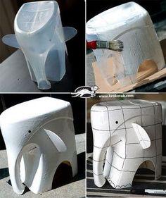 Un estupendo DIY para hacer con niños  Dime la verdad.  ¿ Imaginabas que está hecho con un bote de detergente?  Sigue le...