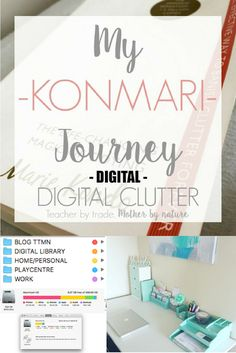 Sharing My KonMari Journey, inspired by Japanese organising guru and author of & Life Changing Magic of Tidying Up& Marie Kondo. Today I am tackling DIGITAL CLUTTER Clutter Solutions, Clutter Control, Clutter Organization, Organizing Tips, Organization Ideas, Getting Rid Of Clutter, Declutter Your Life, Konmari Method, Paper Clutter