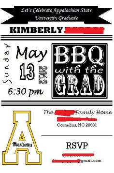 My graduation BBQ invites. Put them in with my grad announcements