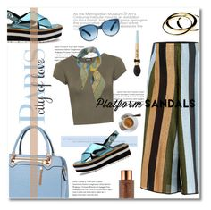 """""""stand up!  platform sandals"""" by limass ❤ liked on Polyvore featuring Circus Hotel, Relaxfeel, Janna Conner, Too Faced Cosmetics, Vita Liberata, WearAll, Salvatore Ferragamo and platforms"""