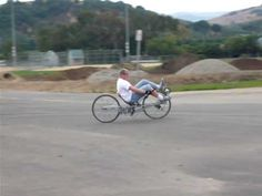 Part of our Cal Poly senior project. This is the prototype for a bike that will compete in the 2010 Human Powered Vehicle competition in 2010. http://www.asm...