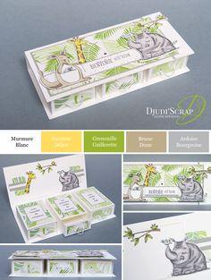 "Birth Treasure Box Tutorial ""Animal Duet Set""- Stampin & # Up! by Djudi & # Scrap – Treasure Box Tutorial ""Animal Duos Set"" - Card Making Tips, Card Making Techniques, Making Ideas, Papier Kind, Diy Papier, Origami Box Tutorial, Scrapbook Box, Treasure Boxes, Scrapbooking Layouts"