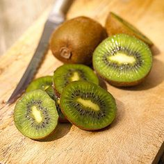 Banana and Kiwi Smoothie - Combine 1 banana peeled and cut into chunks, 1 kiwifruit peeled and sliced (about 1/2 cup), 1 cup low-fat yogurt, 1/2 cup ice cubes, 2 teaspoons maple syrup optional. Blend until smooth, serve immediately.