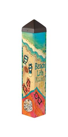 Carolina Creations | PP Art Pole Beach Life PL1024 20 Inch | Fine Art Contemporary Gift Gallery