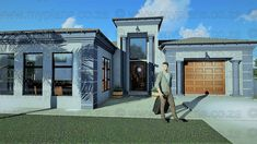 3 Bedroom House Plans - My Building Plans South Africa Floor Plan 4 Bedroom, Bedroom House Plans, My Building, Building Plans, House Plans South Africa, Entrance Hall, Master Suite, Floor Plans, Patio