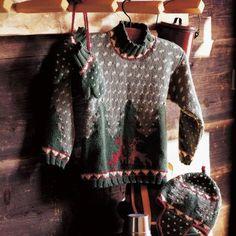Un pull, des gants et un bonnet péruvien tricotés / A pullover, gloves and a Peruvian hat knit