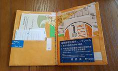 Handmade pocket insert for passport size Midori Travellers Notebook