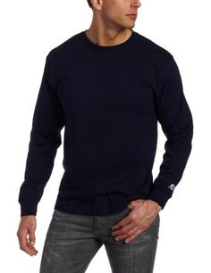 Russell Athletic Men's Basic Cotton Long Sleeve Tee $15.00