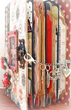 Handmade Journals, Handmade Books, Handmade Crafts, Mini Photo Albums, Mini Albums Scrap, Handmade Skirts, Graphics Fairy, Paper Basket, Journal Covers