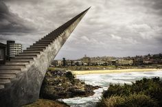 Currently on view at this year's annual Sculpture by the Sea in Bondi, Australia is this fun piece titled Diminish and Ascend by artist Davi...