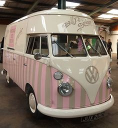 Florence my 1966 VW ice cream camper at Dubfreeze 2013 vintage ice cream van hire & wedding hire ♡ http://www.pollys-parlour.co.uk/