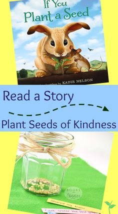 A simple activity to go along with the book If You Plant a Seed by Kadir Nelson. Helps teach and reinforces kindness with preschoolers and even toddlers. Preschool Garden, Preschool Books, Preschool Lessons, Kindergarten Activities, Preschool Activities, Bullying Activities, Kindergarten Reading, Preschool Classroom, Family Activities