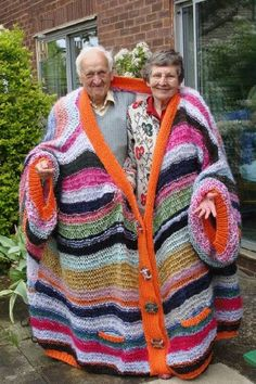 Over sized sweater for two. Cute!