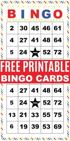 These printable bingo cards are perfect for any occasion. The free bingo card set has 6 different cards you can print off at home and use over and over again. Bingo is a great kids activity. Bingo Cards To Print, Free Printable Bingo Cards, Printable Board Games, Bingo Board, Free Printables, Printable Certificates, Math Bingo, Bingo Set, Bingo Party