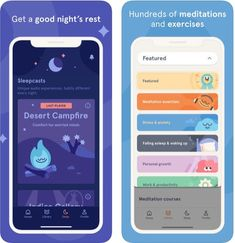 The Headspace app offers guided mediation sessions and mindfulness techniques to help you feel calm, reduce stress, and feel balanced with just a few minutes a Flat Web Design, Design Ios, Game Ui Design, Web Layout, Design Layouts, Website Layout, Design Responsive, Responsive Web, Headspace App