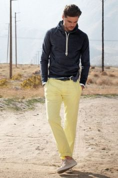 light yellow pants