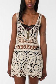 Chorrilho de ideias: Vestido tunica noites arabia de crochet com esquem...