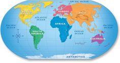Lernübungen für kinder zu drucken. Weltkarten 19