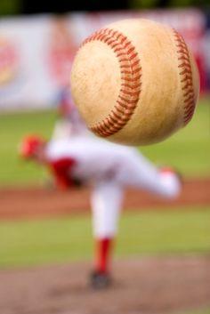 Baseball pitch: fast ball hurling toward home--from inspirational baseball quotes Baseball Scores, Pro Baseball, Baseball Season, Baseball Games, Baseball Players, Baseball Field, Baseball Stuff, Boston Baseball, Baseball Quotes
