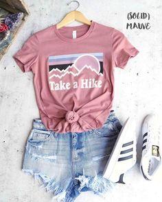 take a hike shirt/ hiking shirt/ladies hiking shirts/womans hiking shirt/Camping. - - take a hike shirt/ hiking shirt/ladies hiking shirts/womans hiking shirt/Camping Shirt Womens Graphi take a hike shirt/ hiking shirt/ladies hiking shi. Cute Teen Outfits, Teenage Girl Outfits, Cute Comfy Outfits, Teen Fashion Outfits, Mode Outfits, Simple Outfits, Cute Teen Clothes, Cute Hiking Outfit, Fashion For Teens