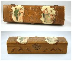 Antique Celluloid Covered Glove Box, Victorian Jewelry Box  Find it here:  https://www.etsy.com/listing/524633680/antique-celluloid-covered-glove-box-as?ref=shop_home_active_16  #MyOliviaVintage