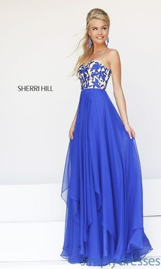 Shop prom dresses and long gowns for prom at Simply Dresses. Floor-length evening dresses, prom gowns, short prom dresses, and long formal dresses for prom. Sherri Hill Prom Dresses, Prom Dresses Blue, Ball Dresses, Homecoming Dresses, Pretty Dresses, Beautiful Dresses, Ball Gowns, Bridesmaid Dresses, Formal Dresses