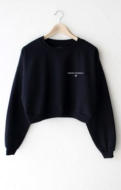 Check Yourself Cropped Sweater
