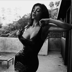 Birthday girl: Kylie Jenner's boyfriend Tyga shared this racy snap on Instagram on Monday as she officially turned 18