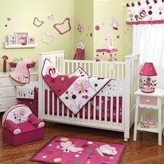 Lambs & Ivy® Raspberry Swirl 5-Piece Crib Bedding Set - buybuyBaby.com