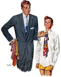 For ties, matching colors and patterns is key. | 16 Ways To Dress Like A Grown Man
