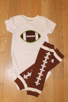 Football Onesie with Football Leg Warmers, Football, Baby Boy Football, Football Leg Warmers on Etsy, $18.99