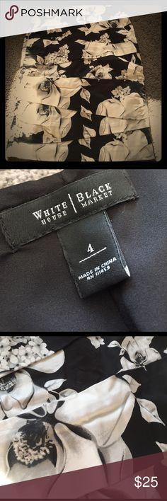 White House Black Market pencils skirt Size 4 White House Black Market pencils skirt. New worn. Perfect condition. White House Black Market Skirts Pencil