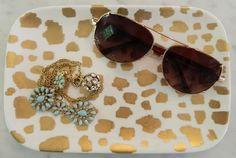 Bromeliad: 5 gold home decor DIYs - Fashion and home decor DIY and inspiration